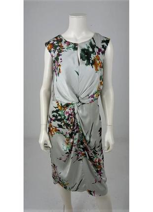 Лакшери струящиеся платье , принт акварельные краски laura ash...