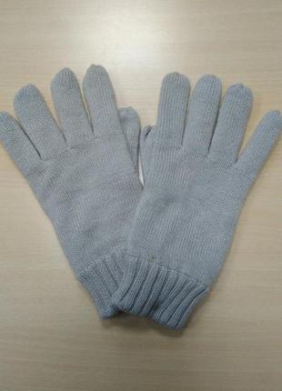 Перчатки, мужские, теплые, вязаные, двойные, на флисе,  c&a, l/xl