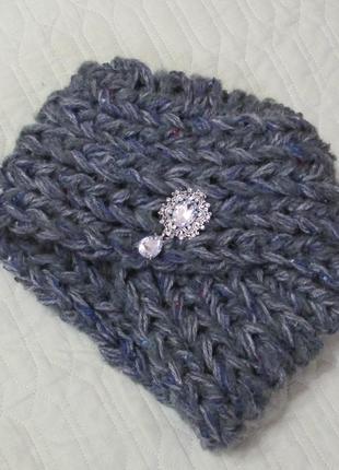 Модная шапка-чалма - стильно, тепло, современно! № 40 н