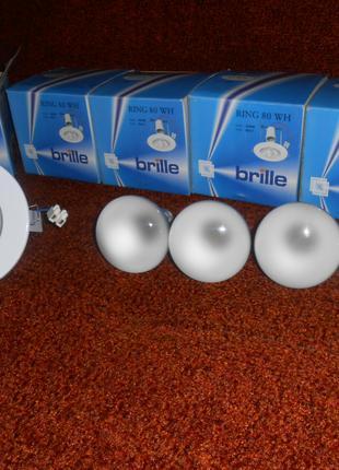 Светильники точечные Brille Ring 80 WH + лампочки