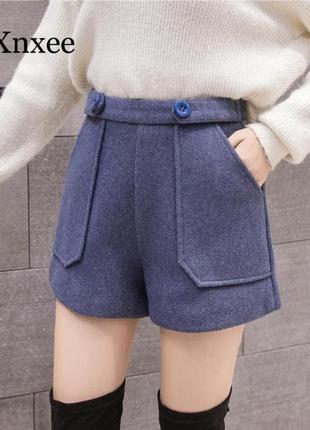 Синие женский шорты