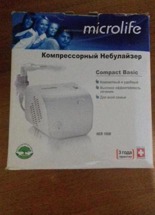 Інгалятор Microlife Компресорний Небулайзер Compact Basic NEB 100
