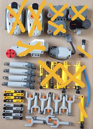 Гусеницы, колеса, различные детали Лего Lego. ОРИГИНАЛ