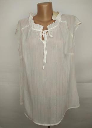 Блуза новая белая красивая легкая uk 12/40/m