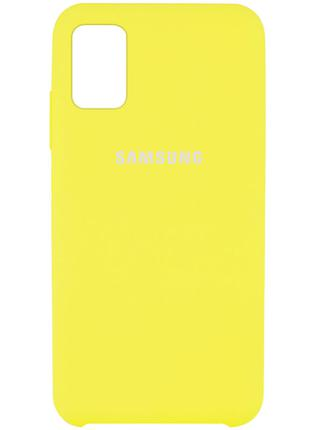 Чехол Silicone Cover для Samsung Galaxy M51 (Желтый)