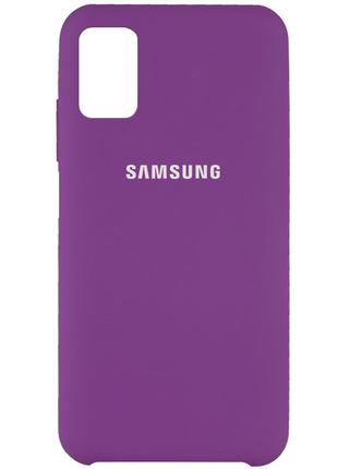Чехол Silicone Cover для Samsung Galaxy M31s (Фиолетовый)