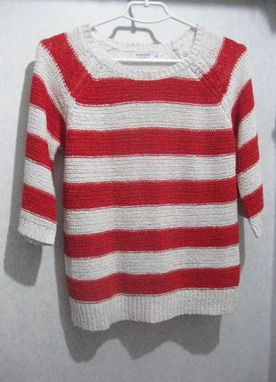 Джемпер свитер кофта reserved белая в красную полоску