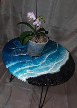 Дерево железо лофт эко столик журнальный кофейный прикроватный