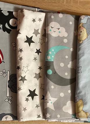 Детское постельное сменное белье в кроватку, манеж 3 в 1