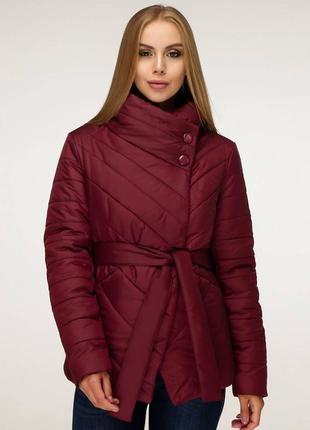 Стильная куртка деми на поясе, 54