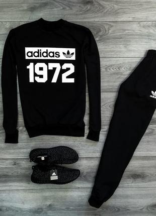 Спортивный костюм тёплый с принтом adidas | костюм спортивний ...
