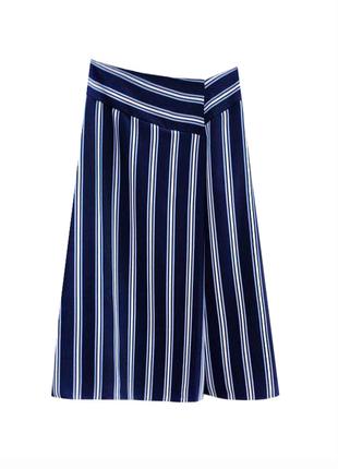 Стильная качественная юбка миди в полоску marks & spencer