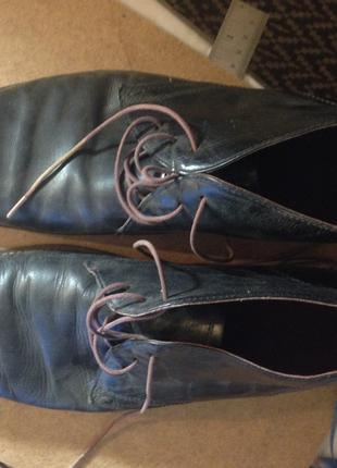 Туфлі броги натуральна шкіра. 43 розмір
