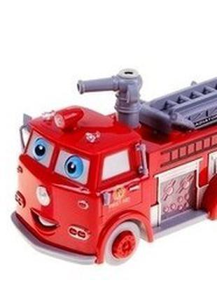 Музыкальная Пожарная машина 838 свет, музыка, пускает мыльные пуз