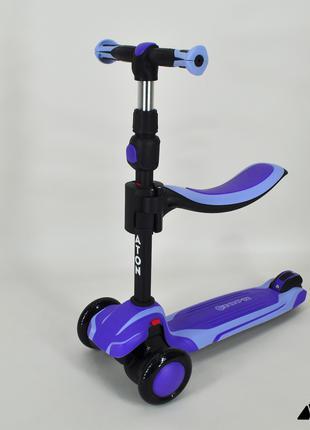 Самокат – Беговел 2 В 1 Maraton Flex G Детский фиолетовый