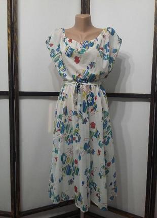 Платье винтаж миди англия