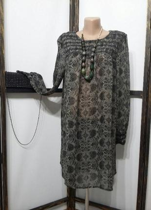 Платье туника шифоновая бренд indiska