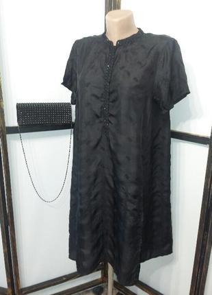 Туника индийская из натурального шелка с вышивкой krishna mehta
