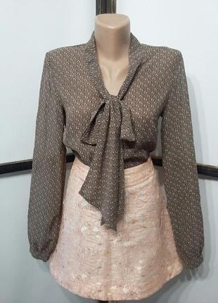 Блуза блузка jhiva шифоновая с бантом