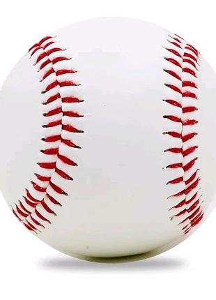 Мяч для бейсбола (верх-PVC, сердцевина-пробка, белый)
