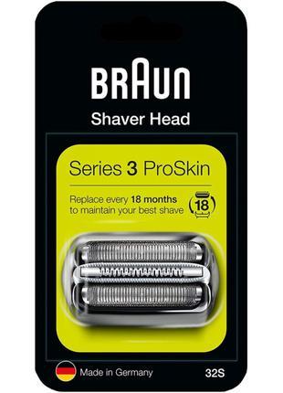 Оригинал сетка и нож BRAUN 32S для бритвы браун Series 3
