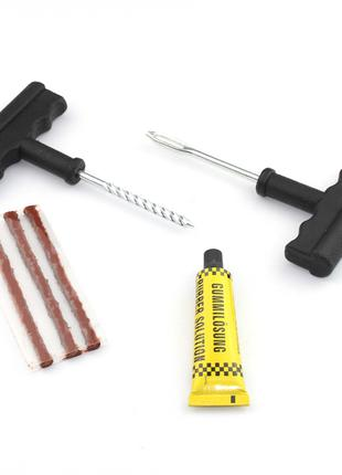 Рем набор для ремонта шин латки для безкамерки червяк инструмент
