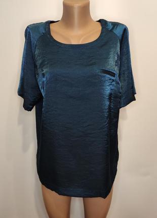 Marks & spencer летняя блестящая блуза, футболка из вискозы