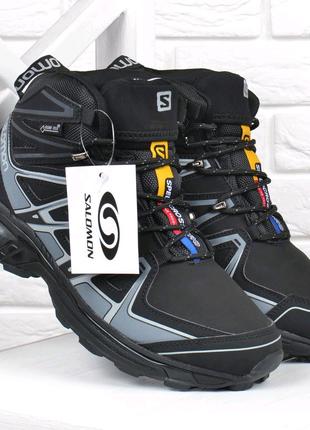 Черевики чоловічі зимові шкіряні Salomon Speed Cross Pro на хут