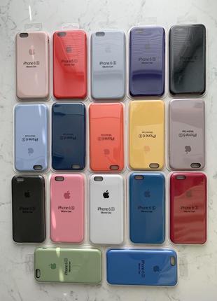 Силиконовый чехол apple silicone case на айфон {для iphone} 6s...