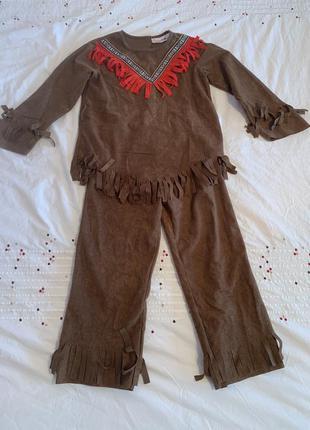 Яркий карнавальный костюм индейца на 4-6 лет