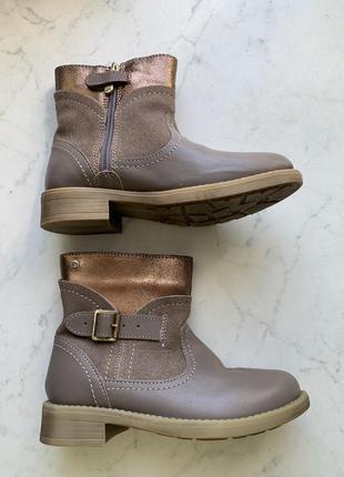 Демисезонные стильные кожаные ботинки сапожки mayoral 31 размер