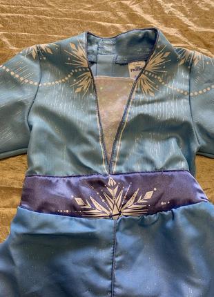 Яркое карнавальное платье disney костюм эльза из холодного сер...