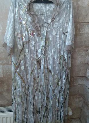 Lissmore. итальянское комбинированое платье. размер 52
