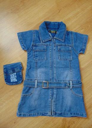 Джинсовое платье, сарафан на 3-4 года
