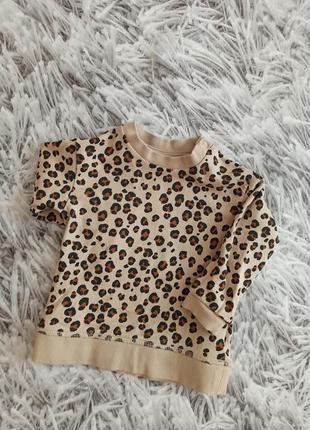 Реглан h&m леопард, детский свитшот на девочку