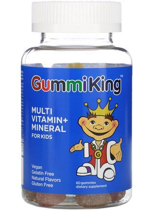 Мультивитаминны и минералы для детей фруктовый вкус GummiKing