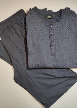 Пижама трикотажная хлопковая мужская, одежда для дома, штаны +...