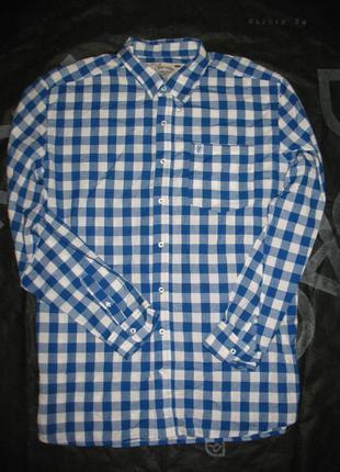 Отличная сорочка/ рубашка в клетку большой размер xl/48-50