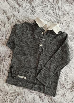 Стильный реглан на мальчика, реглан рубашка ikks grey