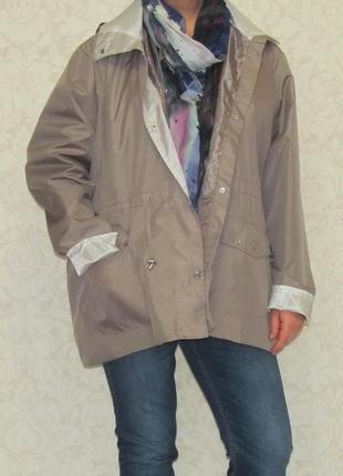Легкая куртка ветровка, дождевик anne de lancay,большой размер