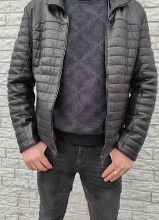 Мужская Кожаная Куртка размер 48-50