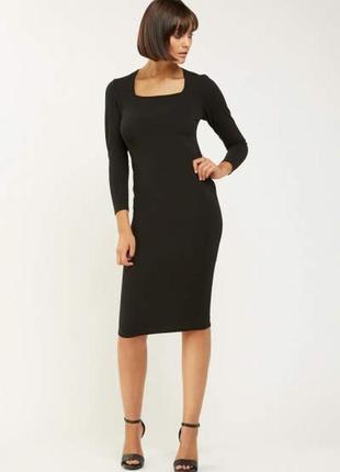 Распродажа! черное миди платье-футляр