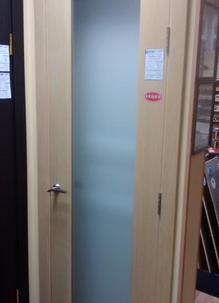 Двери Папа Карло СP-22 Дуб Выбеленый со стеклом триплекс