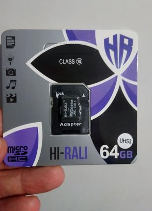 Карта памяти Microsd 64gb class 10