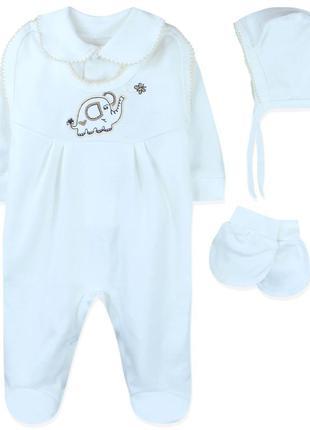 Комплект 5 в 1 детский, молочный. крестильный набор. слоник.