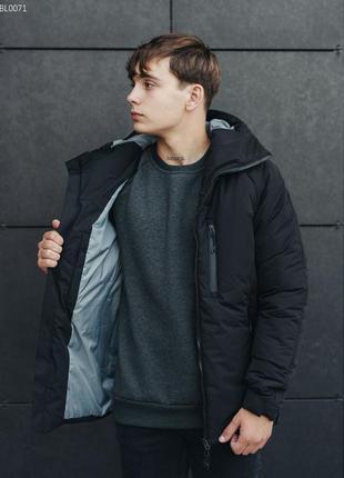 Зимняя куртка staff mil black светоотражающая