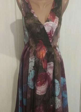 Шёлковое платье uk8 Monsoon