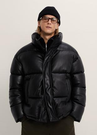Куртка, пуховик Zara, Зара, черный