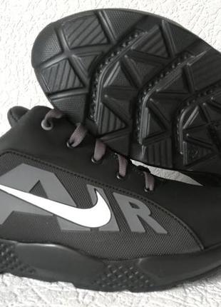 Nike air llll кроссовки мужские кожаные чёрные на каждый день