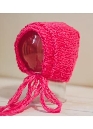 Чепчик шапочка на новорожденного